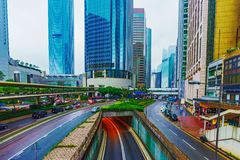 View of Hong Kong financial district Royalty Free Stock Photos
