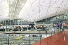 View of Hong Kong International airport Stock Image