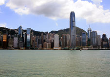 View of Hong Kong Island. View from Kowloon of Hong Kong Island during the day Royalty Free Stock Photos