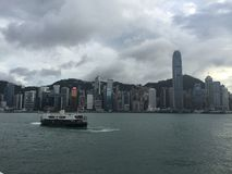 View of Hong Kong island stock photos