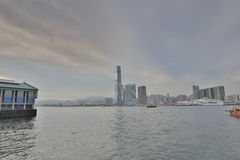 View from Hong Kong island in Kowloon Stock Photos