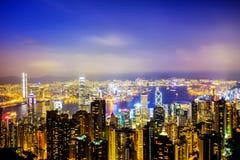 The view of Hong Kong looking at the peak Royalty Free Stock Photos
