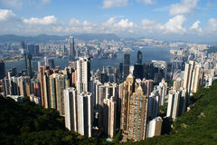 View of Hong Kong from the peak Stock Image