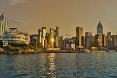 view of Hong Kong skyline at 2017 Stock Photo