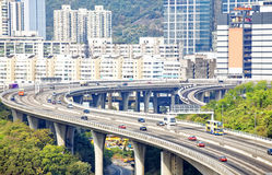 View on Hong Kong street Stock Images