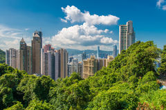 View of Hong Kong during sunny day Royalty Free Stock Photography