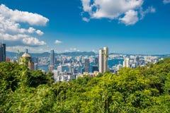 View of Hong Kong during sunny day Royalty Free Stock Photos