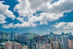 View of Hong Kong during sunny day Stock Photos