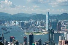 View of Hong Kong during sunny day Royalty Free Stock Image