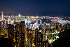 View of Hong Kong during Stock Images