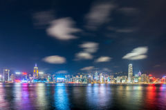 View of Hong Kong during sunset hours Stock Photos