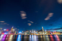 View of Hong Kong during sunset hours Royalty Free Stock Photography