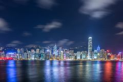 View of Hong Kong during sunset hours Royalty Free Stock Image