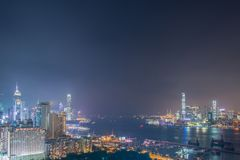 View of Hong Kong during sunset hours Stock Image