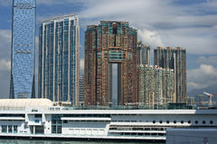View at Hong Kong from Victoria Harbor Stock Images