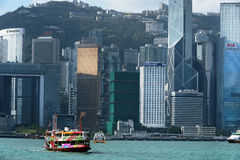 View at Hong Kong from Victoria Harbor Stock Photo