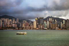 View at Hong Kong from Victoria Harbor Royalty Free Stock Photo