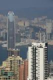 View of Hong Kong from Victoria Peak. View of skyscrapers with IFC 2 in Hong Kong from Victoria Peak, Hong Kong Island, Hong Kong, SAR, China Stock Images