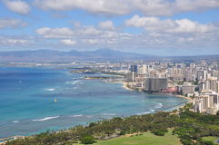 View on Honolulu from Diamond Head Crater - Oahu Royalty Free Stock Photo