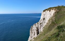View of the Hooken undercliff on the Beer to Branscombe walk in Devon, England. This is accessible by walking the coastal path stock photography