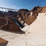 Цшву view of Hoover Dam. Royalty Free Stock Images