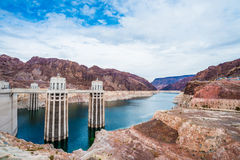 View of the Hoover Dam Stock Image