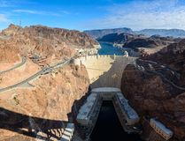 View of the Hoover Dam in Nevada, USA Royalty Free Stock Image