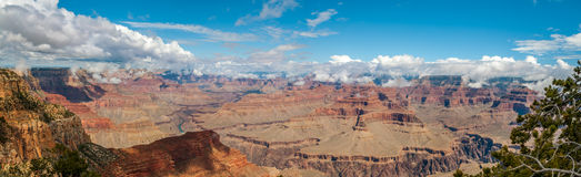 View from Hopi point - North Rim of Grand Canyon. Grand Canyon - Panorama view from Hopi point Stock Images