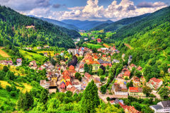 View of Hornberg village in Schwarzwald mountains - Germany. View of Hornberg village in Schwarzwald mountains - Baden Wurttemberg, Germany royalty free stock images