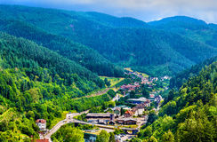 View of Hornberg village in Schwarzwald mountains - Germany Stock Photo