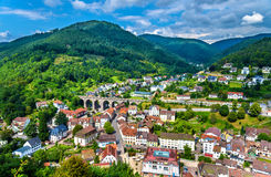 View of Hornberg village in Schwarzwald mountains - Germany Royalty Free Stock Photo