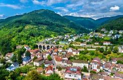 View of Hornberg village in Schwarzwald mountains - Germany. View of Hornberg village in Schwarzwald mountains - Baden Wurttemberg, Germany Royalty Free Stock Photo