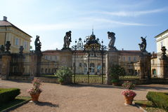 View of Horovice from french garden Royalty Free Stock Photography