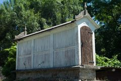Granary in Galicia. View of the Horreo, typical spanish granary Royalty Free Stock Image
