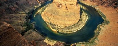 Famous Horseshoe bend. View of Horseshoe bend, Arizona, USA Royalty Free Stock Photo
