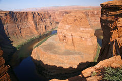 View of the Horseshoe bend in Utah, USA Royalty Free Stock Photos