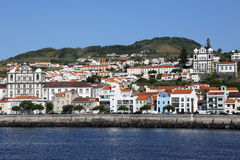 View of Horta on Faial Azores Portugal royalty free stock images