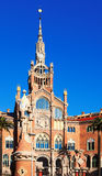 View of hospital de Sant Pau in Barcelona. Catalonia, Spain Royalty Free Stock Photo