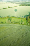 View from hot air balloon, Stock Image