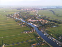 View from a hot air balloon Royalty Free Stock Image