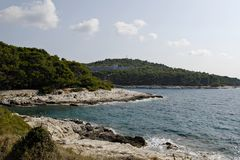 View at hotel Aurora on Mali Losinj Stock Photo