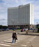 View of the hotel  Azimut  (formerly Arctic) in Murmansk Stock Image