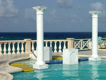 A view of a hotel in Barbados Royalty Free Stock Photo