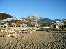 View of hotel beach. Stock Photos