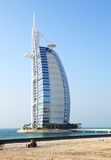 The view on hotel Burj Al Arab  Royalty Free Stock Photos