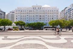 View of hotel Copacabana Palace in Rio de Janeiro Stock Photo