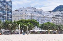 View of hotel Copacabana Palace in Rio de Janeiro Stock Photos