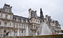 View of Hotel De Ville. The City Hall in Paris, France royalty free stock photo