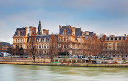 View of Hotel de Ville (City Hall) in Paris , France Stock Photography