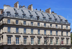 View of Hotel De Ville in Paris. stock photo